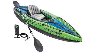 Used Intex Challenger K1 Inflatable Kayak for Sale in Seattle, WA