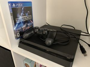 Playstation 4 Slim 500GB with Star Wars Battlefront 2 and controller included for Sale in West Los Angeles, CA