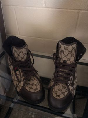 Authentic - Men's Gucci High-ankle light boot shoes size 13 for Sale in Tampa, FL