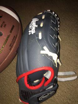 Rawlings baseball glove and Wilson ncaa reaction football for Sale in Raleigh,  NC