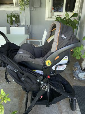 Combo infant seat, infant seat adapter, stroller and stroller adapter for Sale in Miami, FL