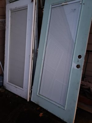Free Exterior French doors( 36+36)x80_-Pending pickup for Sale in Portland, OR