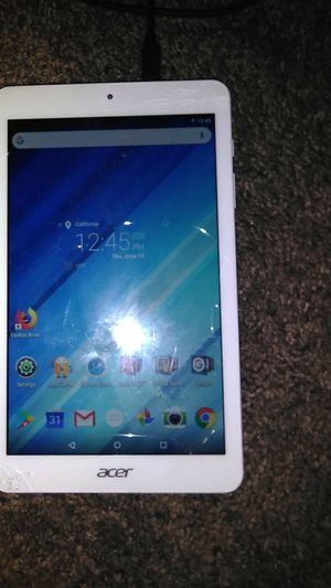 White Acer tablet for 45$ works good for Sale in Mojave, CA