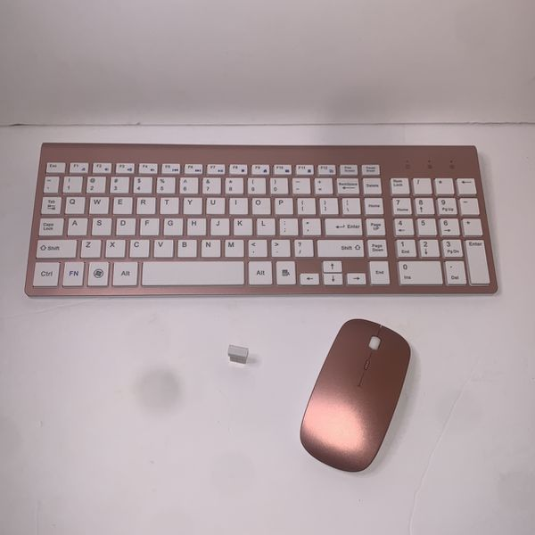 Rose Gold Wireless Keyboard And Mouse Combo