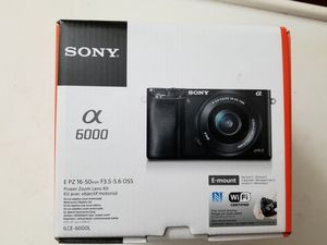 Sony Alpha a6000 Mirrorless Digital Camera 24.3MP SLR Camera w/16-50mm Power Zoom Lens for Sale in Jersey City, NJ
