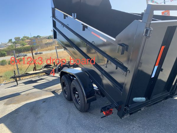 New Dump trailer HD 8x12x4 $5350 cash carrier bobcat concrete