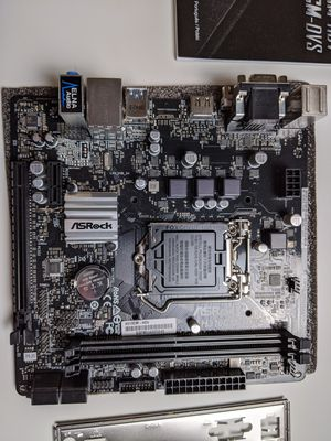 ASRock H310CM-HDV Motherboard LGA 1151 8th 9th gen intel processors for Sale in Des Moines, WA