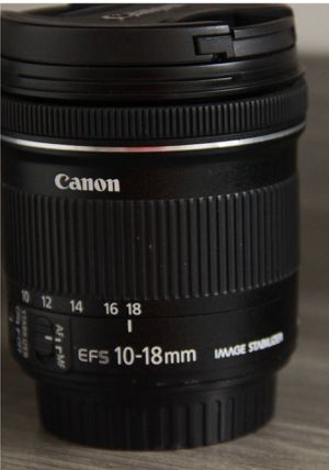 New Canon EF-S 10-18mm f/4.5-5.6 IS STM Lens, for Sale in MONTGOMRY VLG, MD
