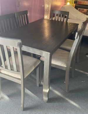 ✅ 👨👩👧👦7-PC Grey Dining Set *Visit our showroom 🏜 * Deliver and Set up 🚛🛠 *Apply from your phone 📲 for Sale in Las Vegas, NV