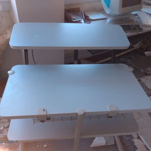 computer desk with adjustable keyboard and modem standnd for Sale in Bristol, PA