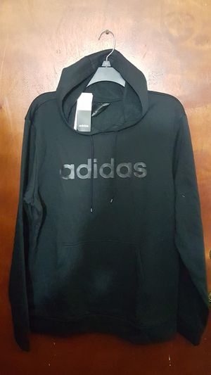 LIMITED EDITION ADIDAS MEN'S HOODIE SWEATER SIZE LARGE DARK BLACK BRAND NEW WITH TAGS SERIOUS BUYER'S ONLY for Sale in Huntington Park, CA