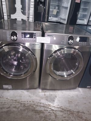 SAMSUNG FRONT LOAD STEAM WASHER AND DRYER SET WORKING PERFECT for Sale in Baltimore, MD