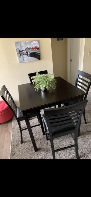 Special High Dining Set ( table and 4 Chairs Wood New ) ⭐️👍 for Sale in Chula Vista, CA
