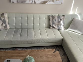 White Leather Sleeper Sofa Sectional for Sale in Walnut Creek,  CA
