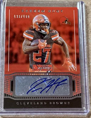 Panini Cleveland Browns Kareem Hunt Autographed Insert Card 133/199 for Sale in North Ridgeville, OH