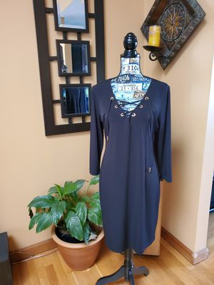CALVIN KLEIN BLACK LACE UP DRESS! for Sale in Taunton, MA