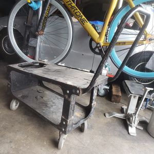 ☆ Welding Cart ☆ 4 x Swivel Casters ☆ Handle ☆ Holds Tank ☆ Storage ☆ welder tig mig stand table ☆ for Sale in City of Industry, CA