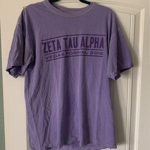 Zeta Tau Alpha Texas State University Comfort Colors Tshirt for Sale in Austin, TX