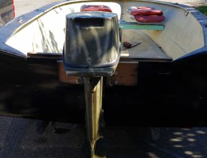 Boat motor and trailer for Sale in Rock Island, WA