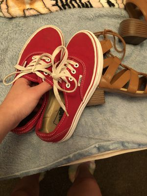 Red Vans size 5 1/2 for Sale in Fresno, CA