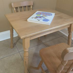 Children's Table Chairs Solid Wood for Sale in Tucker, GA