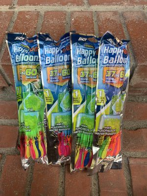 4 packs of water balloons for Sale in Los Angeles, CA