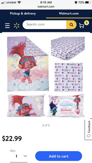 Trolls 4pc bed set for Sale in Chicago, IL