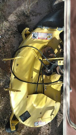 Riding lawn tractor mower decks. Stx38 John Deere Yellow. Model serial numbers in photos for Sale in Maricopa, AZ