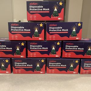 50 Pack 3-PLY Christmas Face Mask for Sale in Rowland Heights, CA