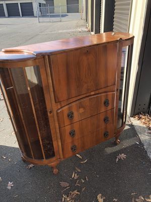 Antique secretary desk with side curios ... for Sale in Durham, NC