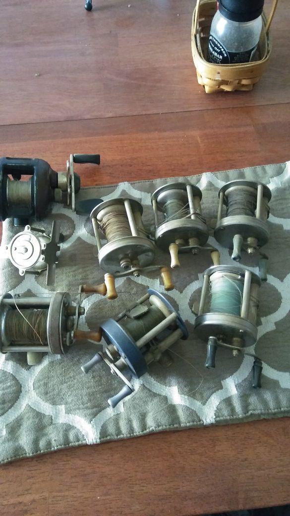 Old fishing reels