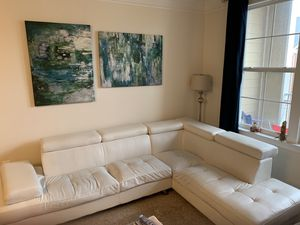 White Sectional Sofa for Sale in Herndon, VA