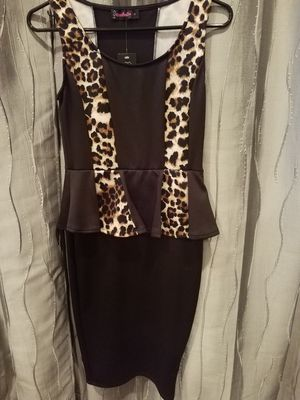 Black & Cheetah Peplum Dress Size Small ~New~ for Sale in Montclair, CA