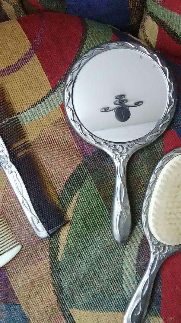 2 Sets Of Antique Mirror , Brush , Comb