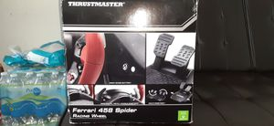 Xbox one thrustmaster Ferrari 458 spider racing wheel for Sale in Dumfries, VA