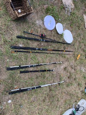 Fishing stuff rods tackle lures must go for Sale in Tampa, FL
