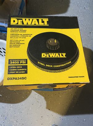 DEWALT 18 in. Surface Cleaner for Gas Pressure Washers Rated up to 3700 PSI for Sale in Arlington Heights, IL