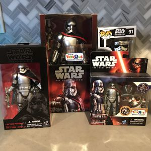 Disney Star Wars Captain Phasma Lot. Pop black series toys r us for Sale in Covina, CA