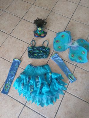 Girls custom-made peacock costume size 10/12 for Sale in Miami, FL