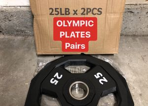 NEW IN BOX Olympic RUBBER Plates 25s PAIRS for Sale in Fremont, CA