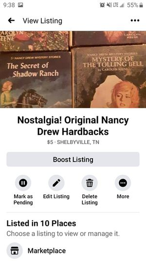 Nostalgia! Original Hardback Nancy Drew for Sale in Shelbyville, TN