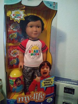 Brand New Ryan's World Doll 18 inches comes with Egg, putty, Surprise toy in bag $70 FIRM for Sale in Las Vegas, NV
