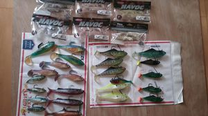 Saltwater Swimbait Lot, Storm, Yum, Havoc for Sale in Los Angeles, CA