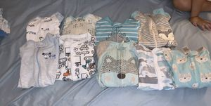 Baby boy clothes , socks , girls clothes , shoes! A walker and a chair also have bottles and formula for Sale in Tucson, AZ