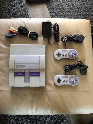 Super Nintendo console set w/ two controllers all original for Sale in Sacramento, CA