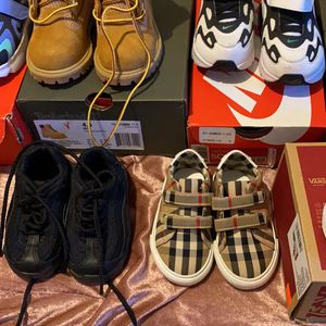 infant sneakers size 4 4.5 boots 4.5 gucci sweater 24 months 175 burberry shirt 80 for Sale in Bryn Mawr, PA