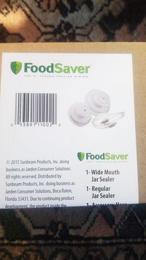 Foodsaver jar sealer kit for regular and wide mouth for Sale in Natick, MA