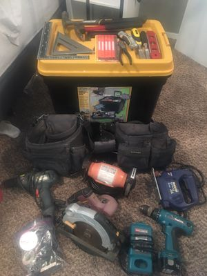 Tool box with power tools for Sale in Tacoma, WA