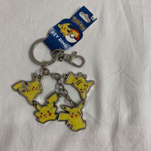 Pokemon Metal Keychain Pikachu Key Chain Keyring for Sale in Hialeah, FL