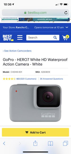 GoPro Hero7 white HD Waterproof Action Camera and Head Strap for Sale in Rancho Cucamonga, CA